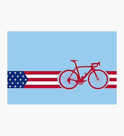 Bike Stripes USA v2 Photographic Print