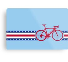 Bike Stripes USA Metal Print