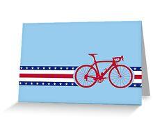 Bike Stripes USA Greeting Card