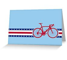 Bike Stripes USA Greeting Card
