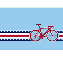 Bike Stripes USA Photographic Print
