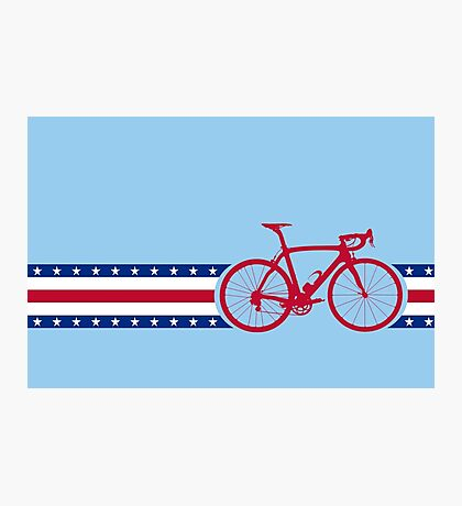 Bike Stripes USA Photographic Print