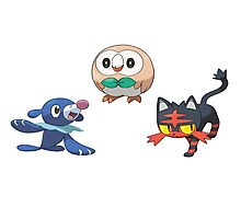 Pokemon Sun and Moon Starters Photographic Print