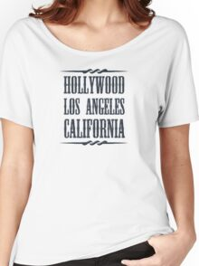 Hollywood (black) Women's Relaxed Fit T-Shirt