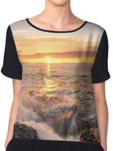 Golden hour, Thyrrenian Sea Chiffon Top
