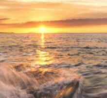 Golden hour, Thyrrenian Sea Sticker