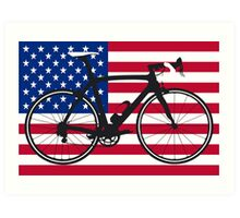 Bike Flag USA (Big - Highlight) Art Print