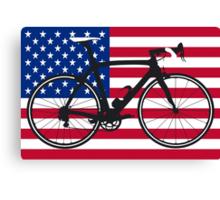 Bike Flag USA (Big - Highlight) Canvas Print
