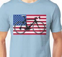Bike Flag USA (Big - Highlight) Unisex T-Shirt