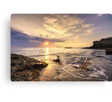 Magic light at sunset Canvas Print