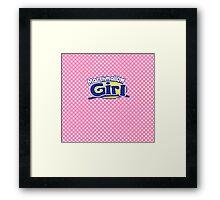Marshmallow Girl - Peep ver. Framed Print