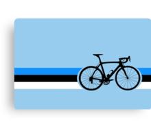 Bike Stripes Estonia Canvas Print