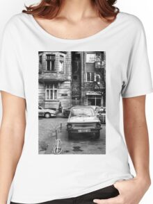 Quiet Streetscape In Sofia From Last Century Women's Relaxed Fit T-Shirt