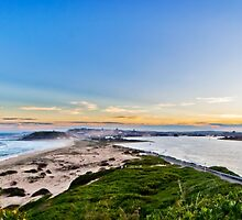 NEWCASTLE From Nobbys Lighthouse by RGA Photography