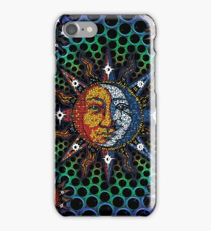 Cosmic Celestial Mosaic Sun & Moon iPhone Case/Skin