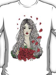 Flying rose petals T-Shirt
