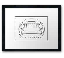Jeep Renegade - Stencil Framed Print