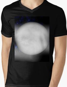 Starry Night with Bright Moon Mens V-Neck T-Shirt