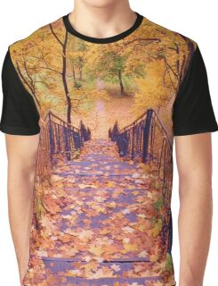 Stairs in the Fall Graphic T-Shirt