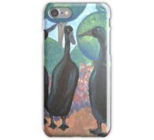 Black Indian Runner Ducks iPhone Case/Skin