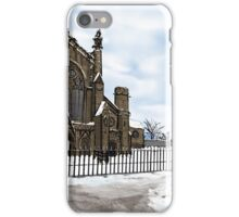 Snowy Cathedral Street Scene iPhone Case/Skin