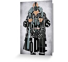 Bane - The Dark Knight Greeting Card
