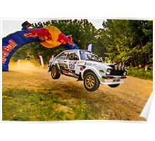 Ford Escort MK2 Rally Jump Poster