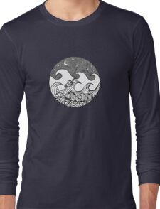 Sternenklare Nacht auf hoher See Long Sleeve T-Shirt