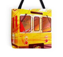 Yellow Subway Background Tote Bag