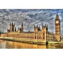 The Tower of Big Ben & the Houses of Parliament in London  Photographic Print