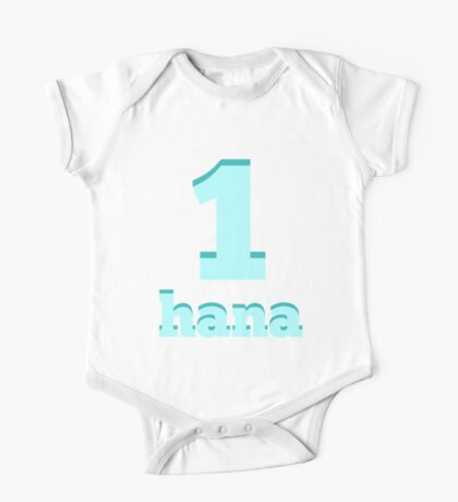 Baby learns Korean - number one blue One Piece - Short Sleeve