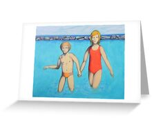 Me and my sister at sea Greeting Card