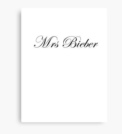 Mrs Bieber Canvas Print