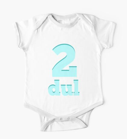 Baby learns Korean - number two blue One Piece - Short Sleeve