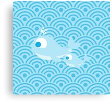 Whales and Waves Canvas Print