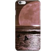 Night surfing with Selene, the goddess of the moon! iPhone Case/Skin