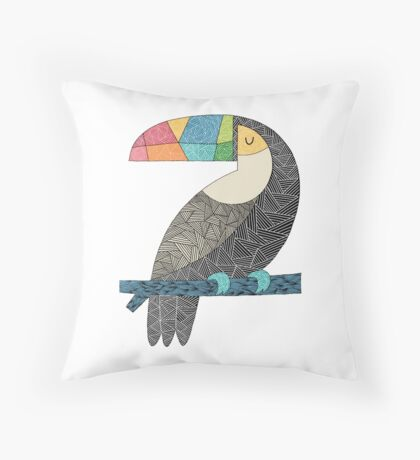 Tucan chilling Throw Pillow