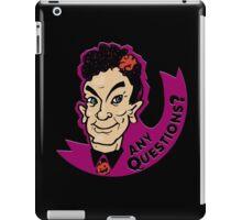 David S. Pumpkins, Any Questions? iPad Case/Skin