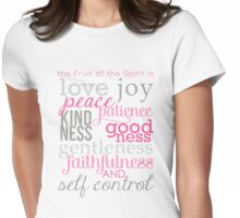 The Fruit of the Spirit, Galatians 5:22 Womens Fitted T-Shirt
