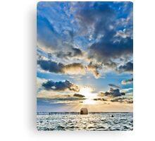 Merewether Baths Sunrise  Canvas Print