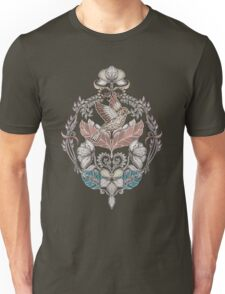 Woodland Birds - hand drawn vintage illustration pattern in neutral colors Unisex T-Shirt