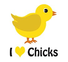 I heart (love) Chicks Photographic Print