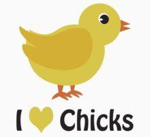 I heart (love) Chicks One Piece - Long Sleeve