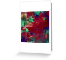Crimson Overflow Greeting Card