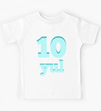 Baby learns Korean - number ten blue Kids Tee