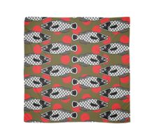 Ancient Fish   Red Dot Scarf