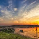 Newtown Quay Sunset Pano by manateevoyager