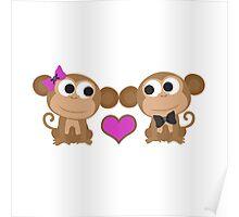 Monkey Love Poster