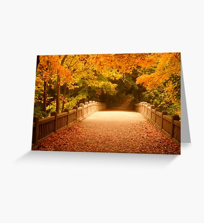Bridging the colors by Tracy Jule Greeting Card