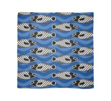 Ancient Fish   Blue Wave Scarf